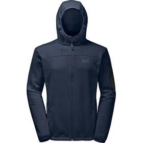 Jack Wolfskin Castle Rock Hooded Fleece Jacket Men night blue